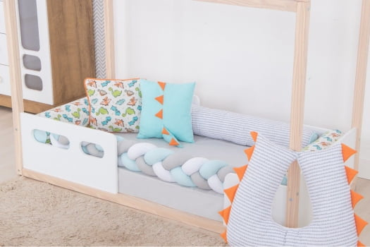 Kit Mini Cama Montessoriano Candy Colors Dinossauro Bebe Enxovais